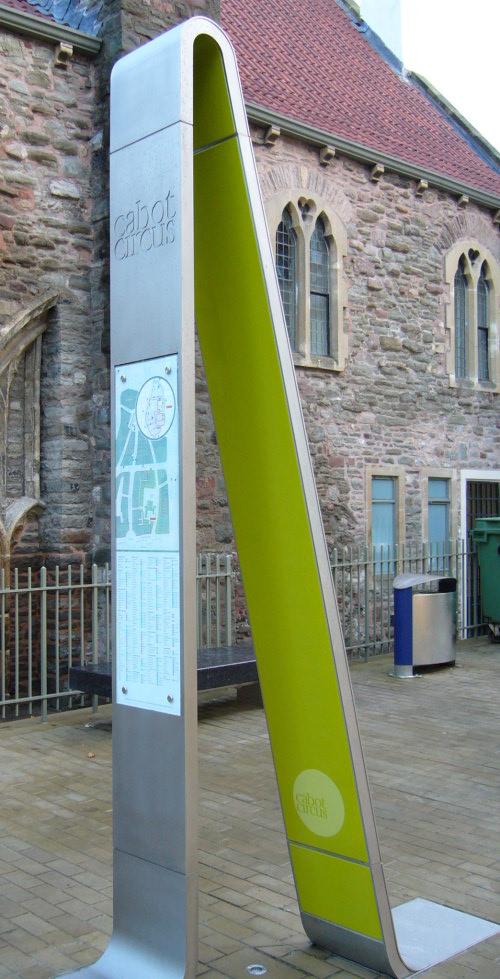 Cabot Circle Bristol, Inline Information Point Cyan