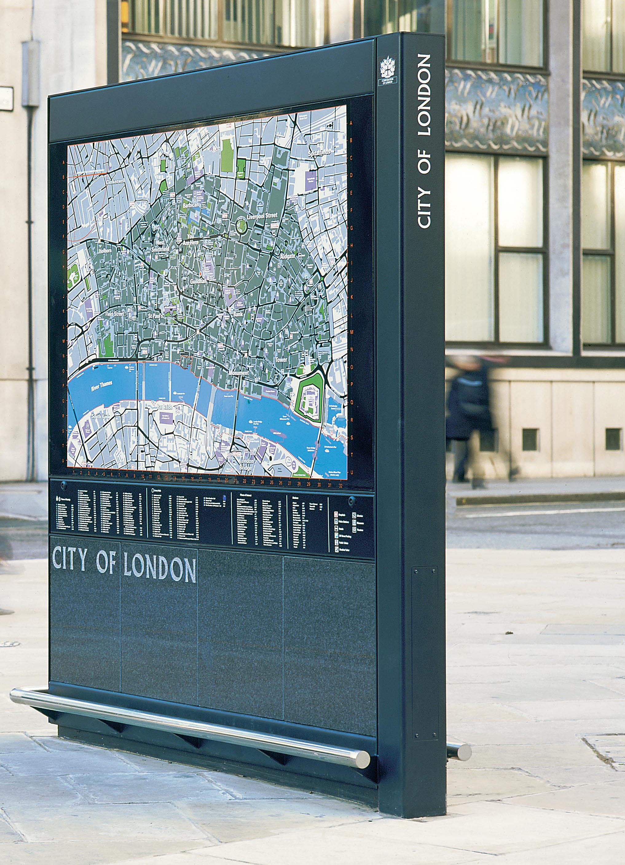 Map Of City Of London Uk.Large Map Panel City Of London Trico