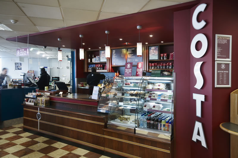 At Costa Coffee, client's expectations regarding the strong depth of colour were surpassed