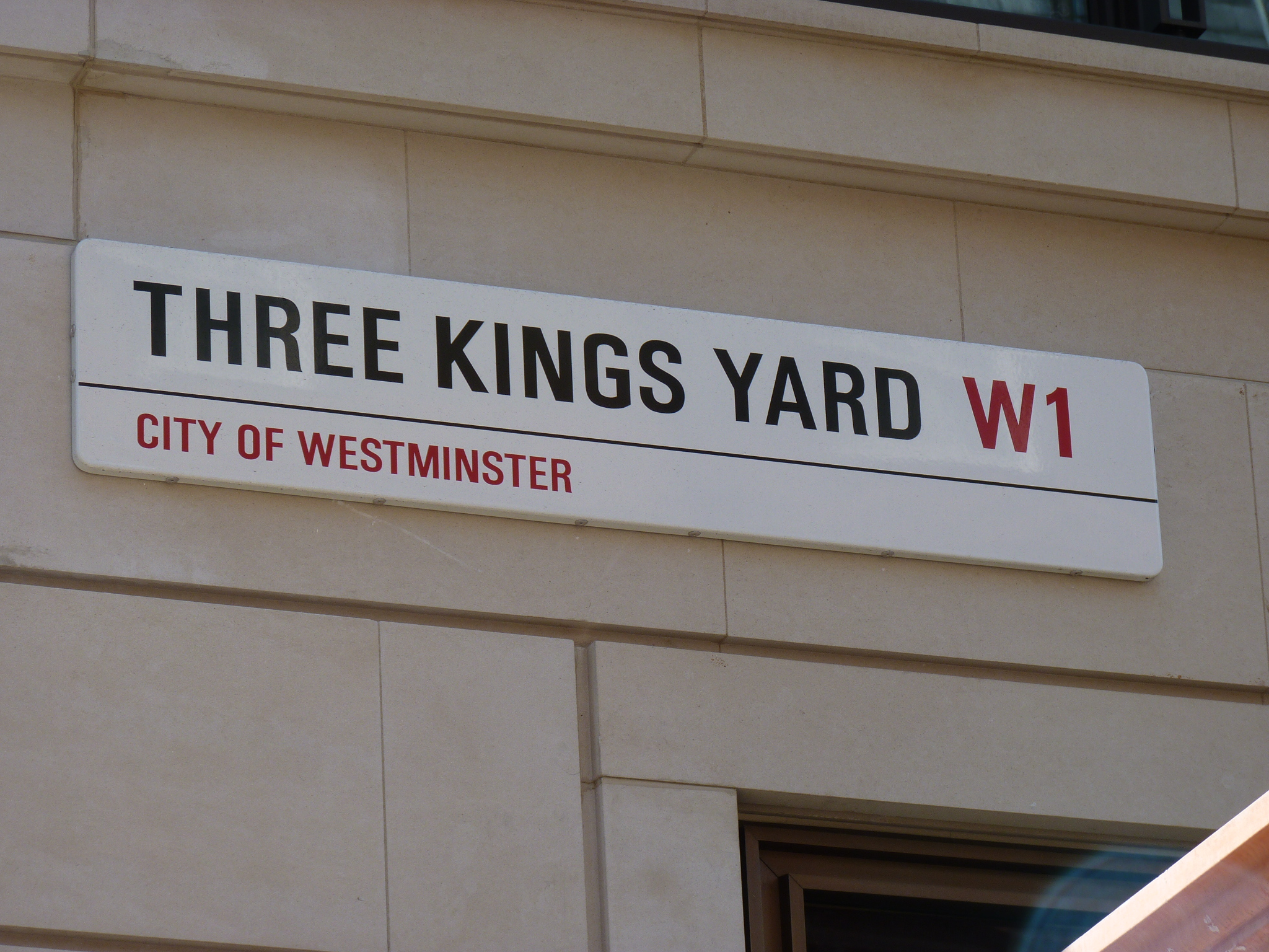 Three Kings Yard, London Street Signage - City of Westminster
