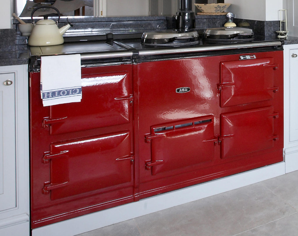 Example AGA cast iron range cooker