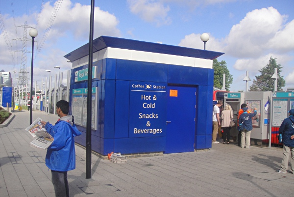 Kiosks at Royal Victoria, Docklands Light Rail, London