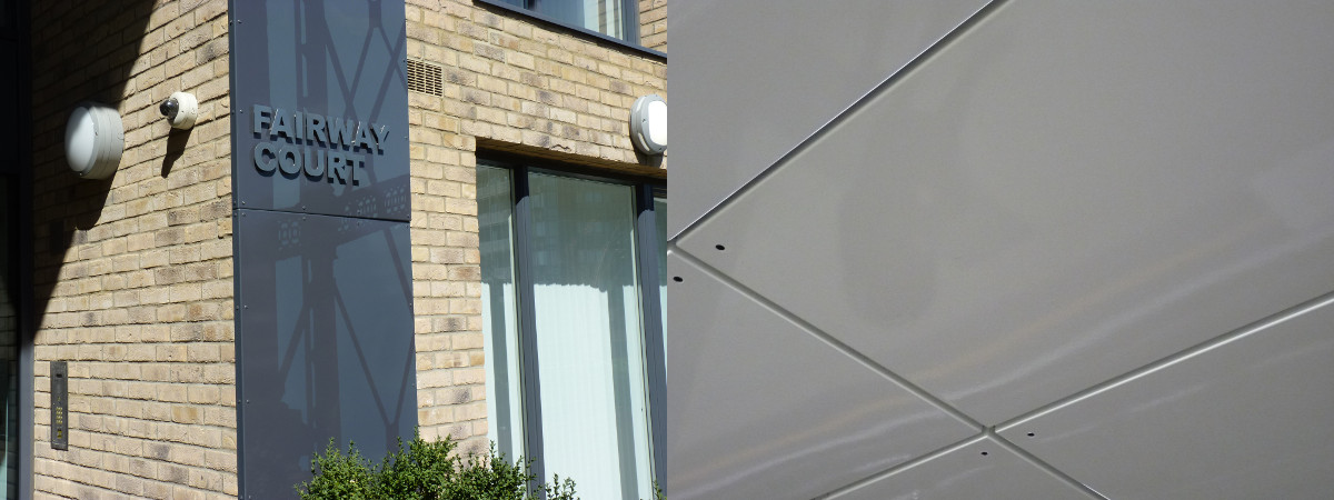 Architectural panels in vitreous enamel
